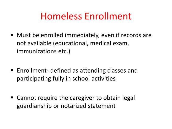 Homeless Enrollment