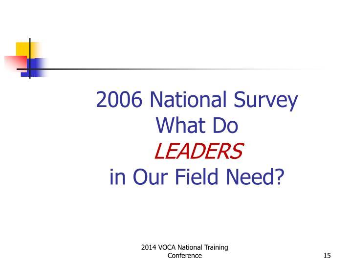 2006 National Survey