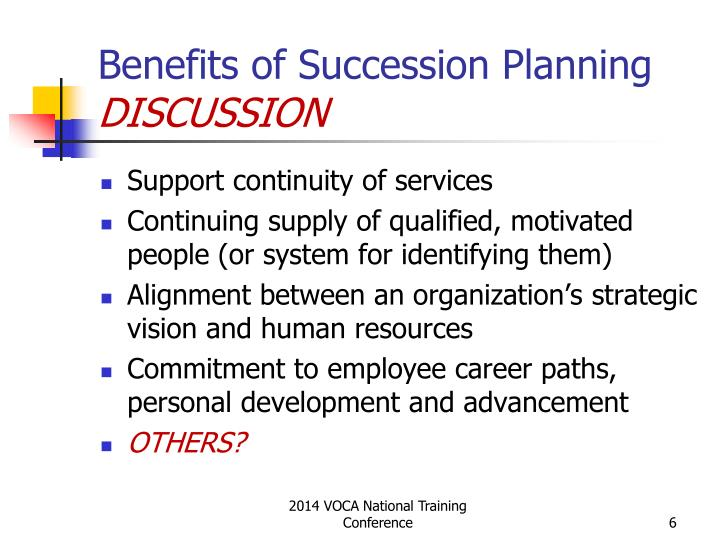 Benefits of Succession Planning