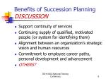 benefits of succession planning discussion
