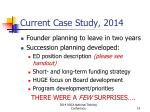 current case study 2014