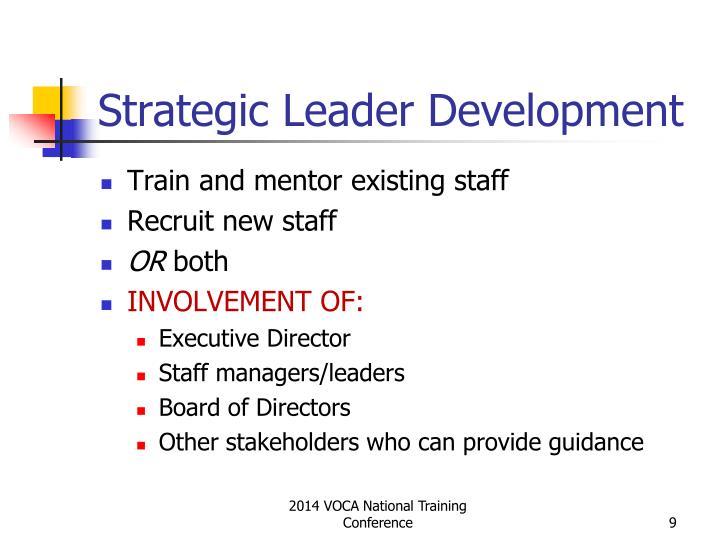 Strategic Leader Development