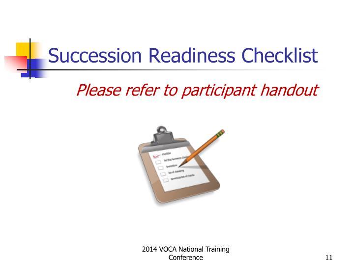 Succession Readiness Checklist