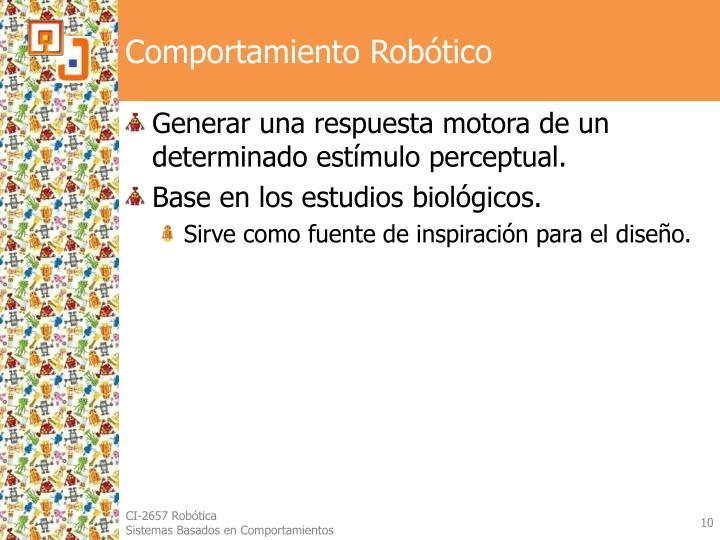 Comportamiento Robótico