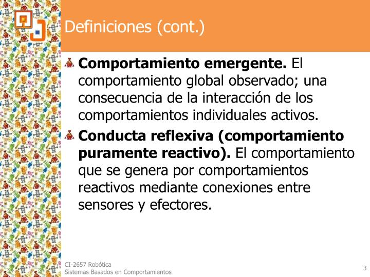 Definiciones (cont.)