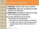 el arbitraje en subsunci n