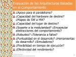 evaluaci n de las arquitecturas basadas en el comportamiento