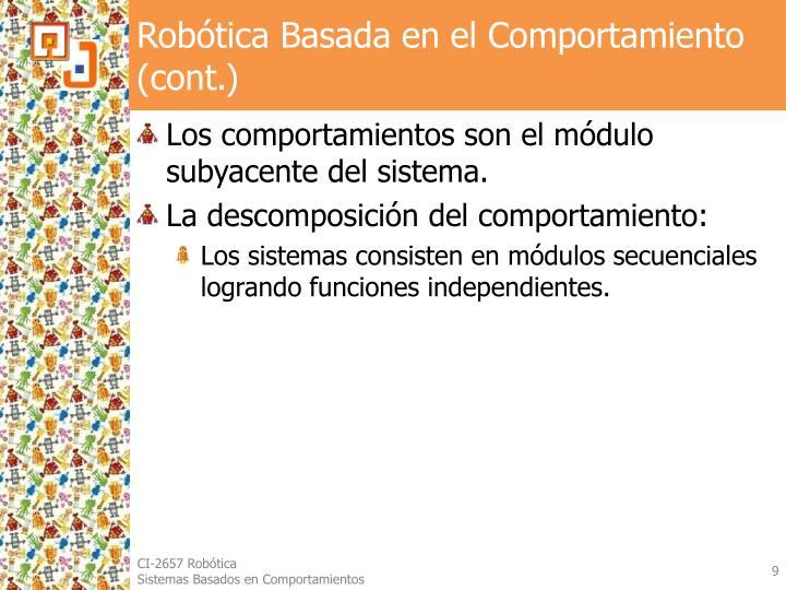 Robótica Basada en el