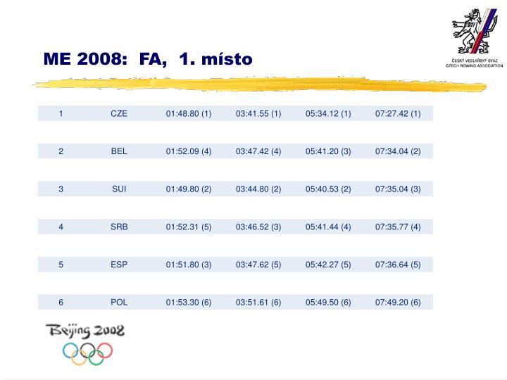 ME 2008:  FA,  1. místo