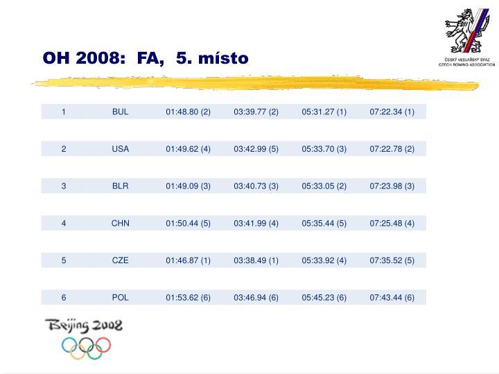 OH 2008:  FA,  5. místo
