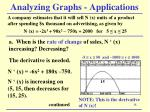analyzing graphs applications