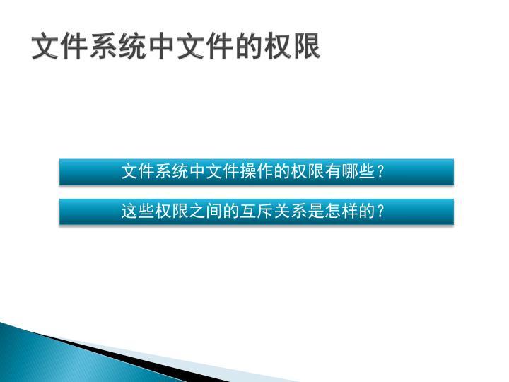 文件系统中文件的权限