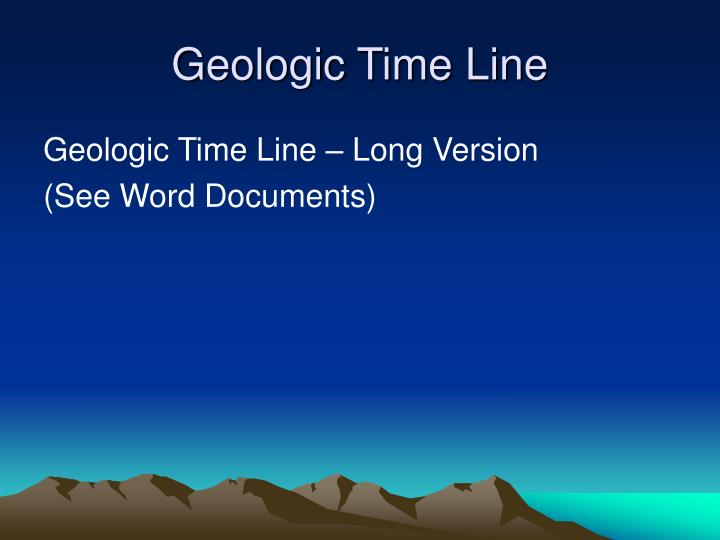Geologic Time Line