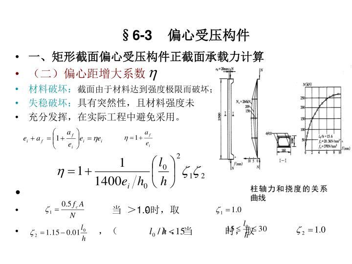 柱轴力和挠度的关系曲线