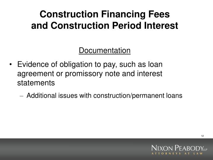 Ppt carryover allocations and 10 test powerpoint Construction loan costs