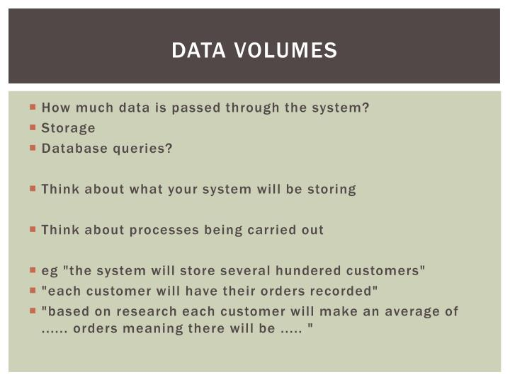 Data volumes