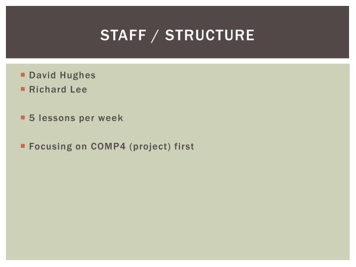 Staff / Structure