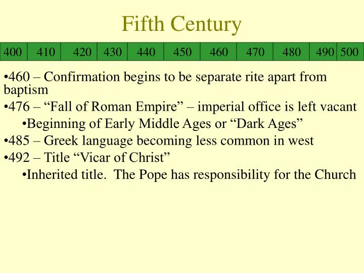 Fifth Century