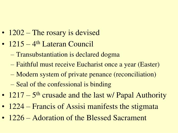 1202 – The rosary is devised