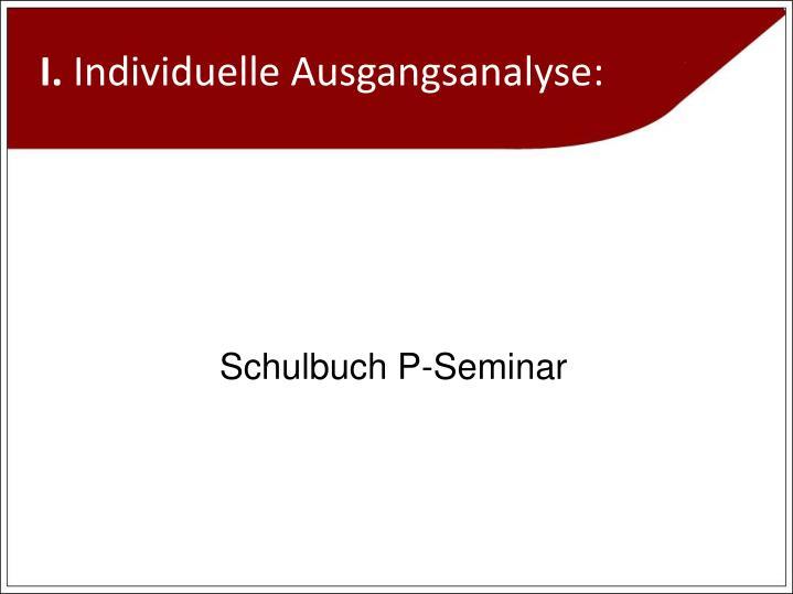 Schulbuch P-Seminar
