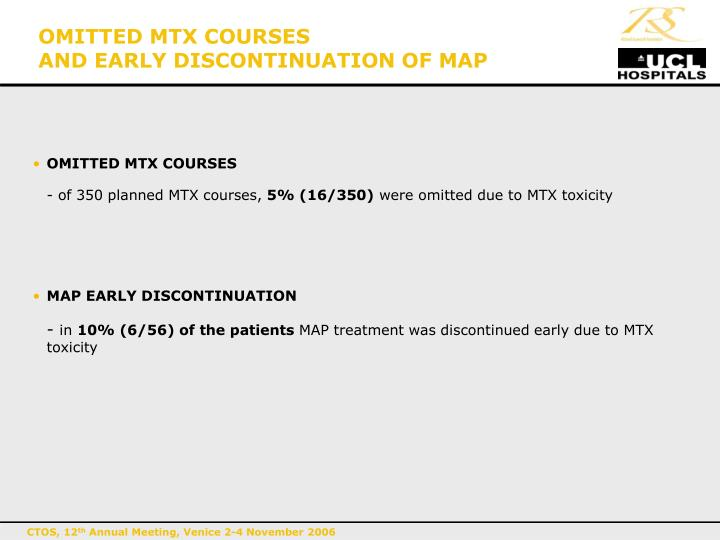 OMITTED MTX COURSES