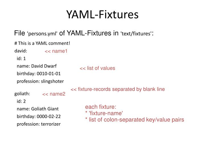 YAML-Fixtures