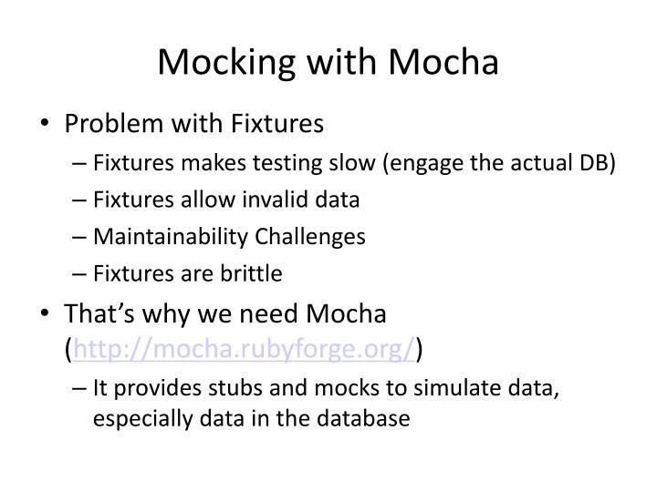 Mocking with Mocha
