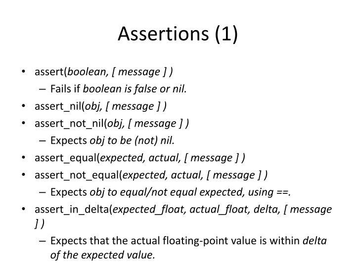 Assertions (1)