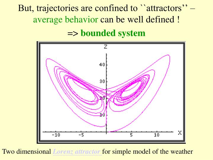 But, trajectories are confined to ``attractors