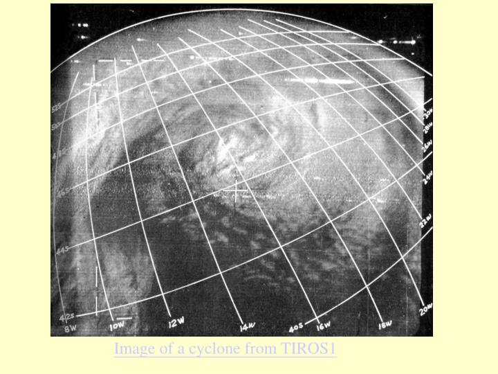 Image of a cyclone from TIROS1