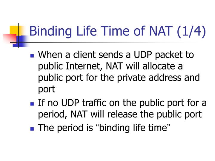 Binding Life Time of NAT (1/4)