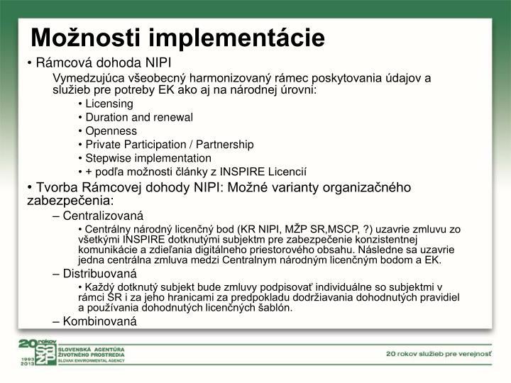 Možnosti implementácie