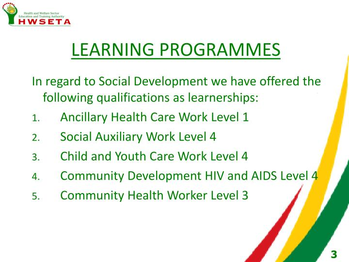 Learning programmes