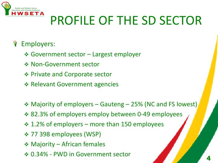 PROFILE OF THE SD SECTOR