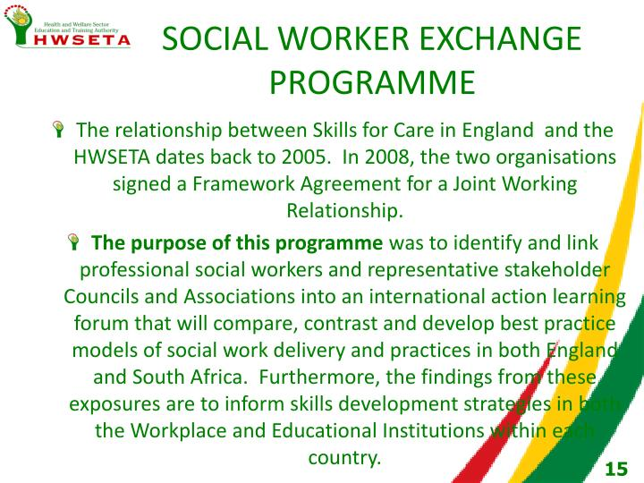 SOCIAL WORKER EXCHANGE PROGRAMME