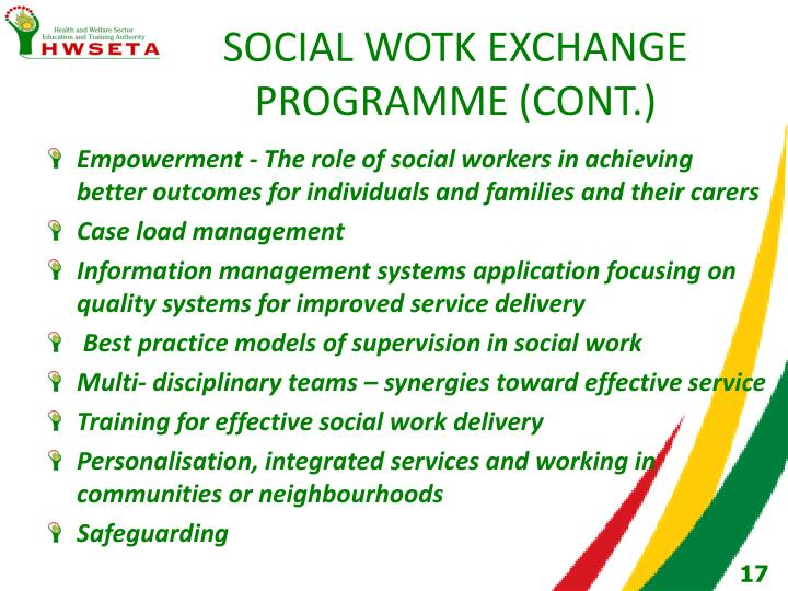 SOCIAL WOTK EXCHANGE PROGRAMME (CONT.)