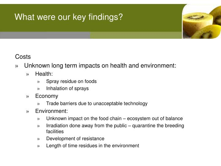 What were our key findings?