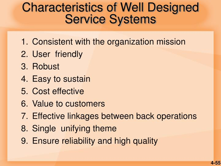 Characteristics of Well Designed