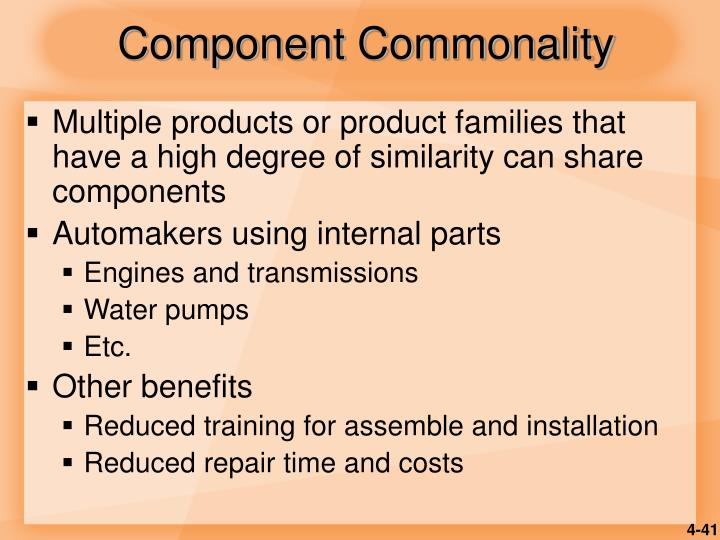 Component Commonality