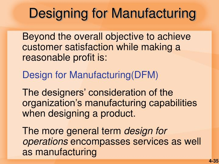 Designing for Manufacturing