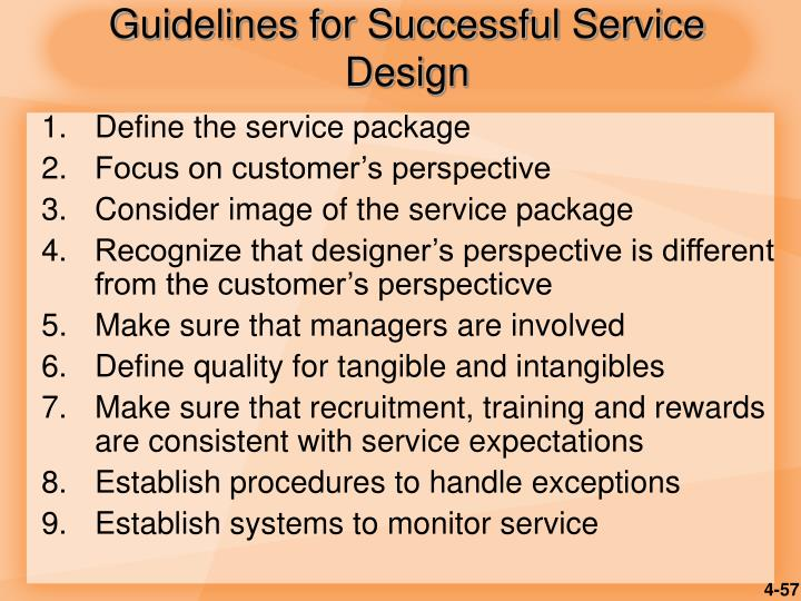 Guidelines for Successful Service Design