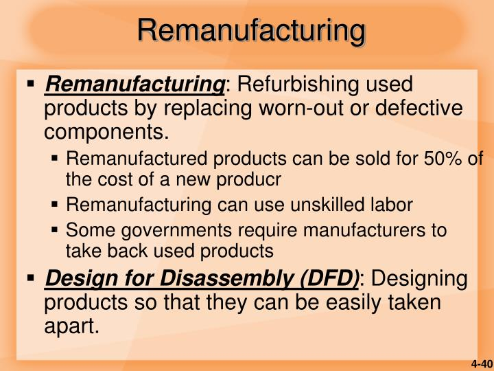 Remanufacturing