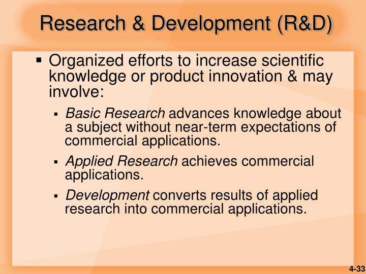 Research & Development (R&D)