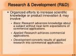 research development r d