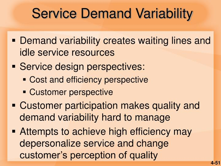 Service Demand Variability