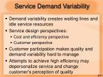 service demand variability