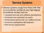 service systems