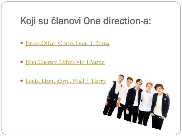 Koji su članovi One direction-a:
