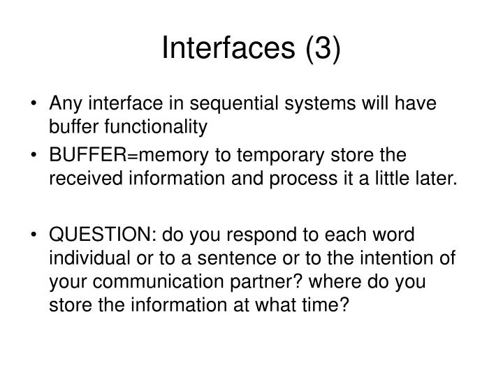 Interfaces (3)