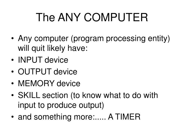 The ANY COMPUTER